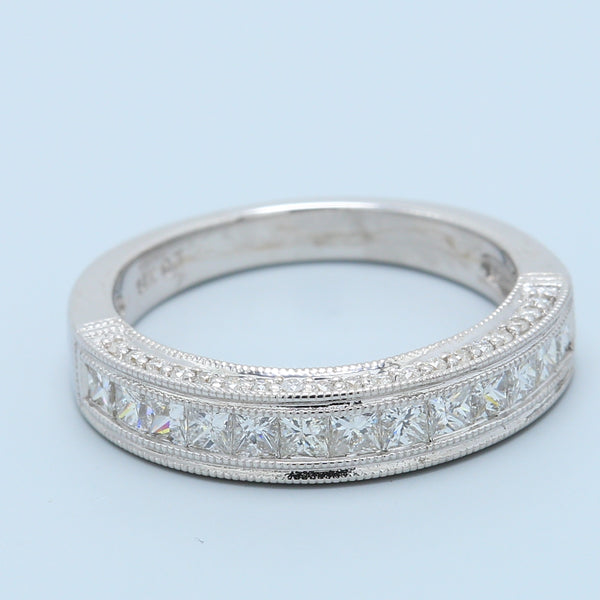Antique Inspired Diamond Wedding Band - 1477 Jewelers