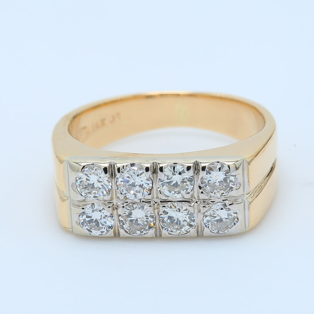 Men's 2 Row Diamond Ring - 1477 Jewelers