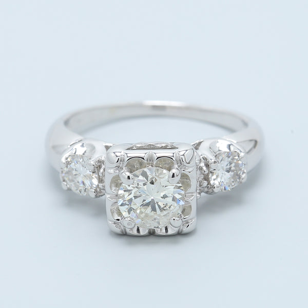 Vintage Buttercup Diamond Engagement Ring - 1477 Jewelers