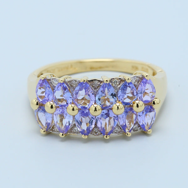 Tanzanite and Diamond Cluster Band - 1477 Jewelers