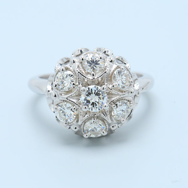 Diamond Starburst Cocktail Ring - 1477 Jewelers