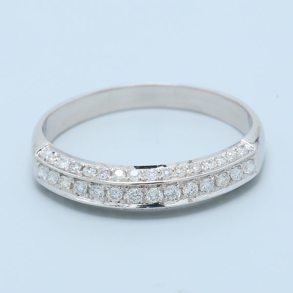 3 Sided Pavé Wedding Band - 1477 Jewelers