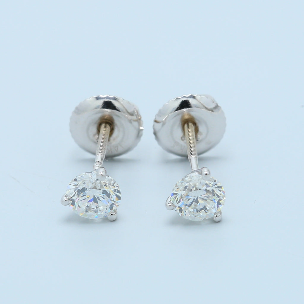 Martini Set 2/3ct Diamond Stud Earrings with Screw-backs - 1477 Jewelers