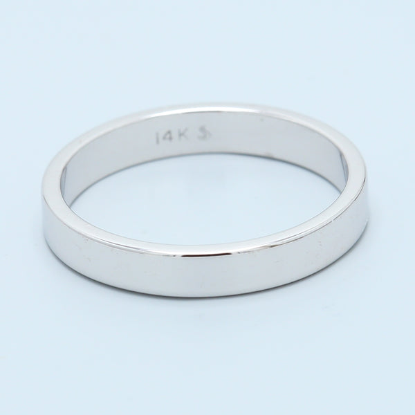 14k White Gold High Polish Flat Band - 1477 Jewelers