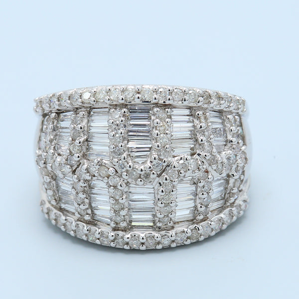 Baguette and Round Diamond Cocktail Band - 1477 Jewelers