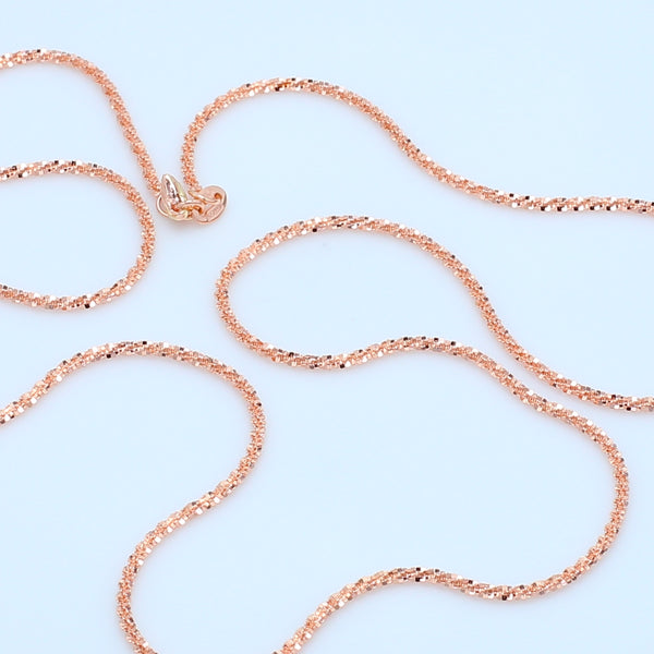 "Twisted 14k Rose Gold 20"" Chain - 1477 Jewelers"