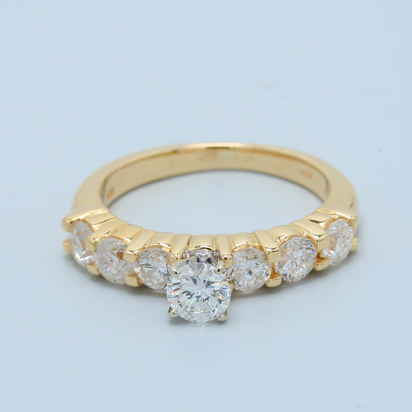 7 Diamond Engagement Ring - 1477 Jewelers