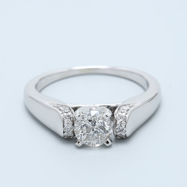 Diamond Engagement Ring with Pavé Shoulders - 1477 Jewelers
