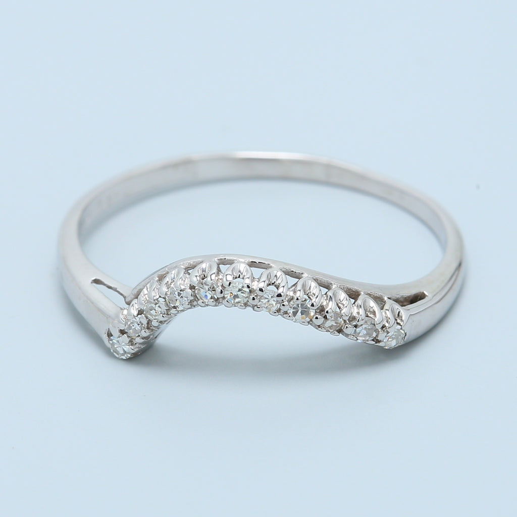 11 Diamond Wedding Band with Curve - 1477 Jewelers