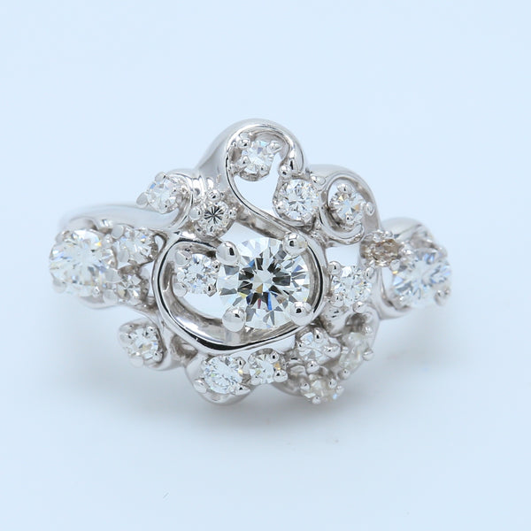Chandelier Diamond Ring - 1477 Jewelers