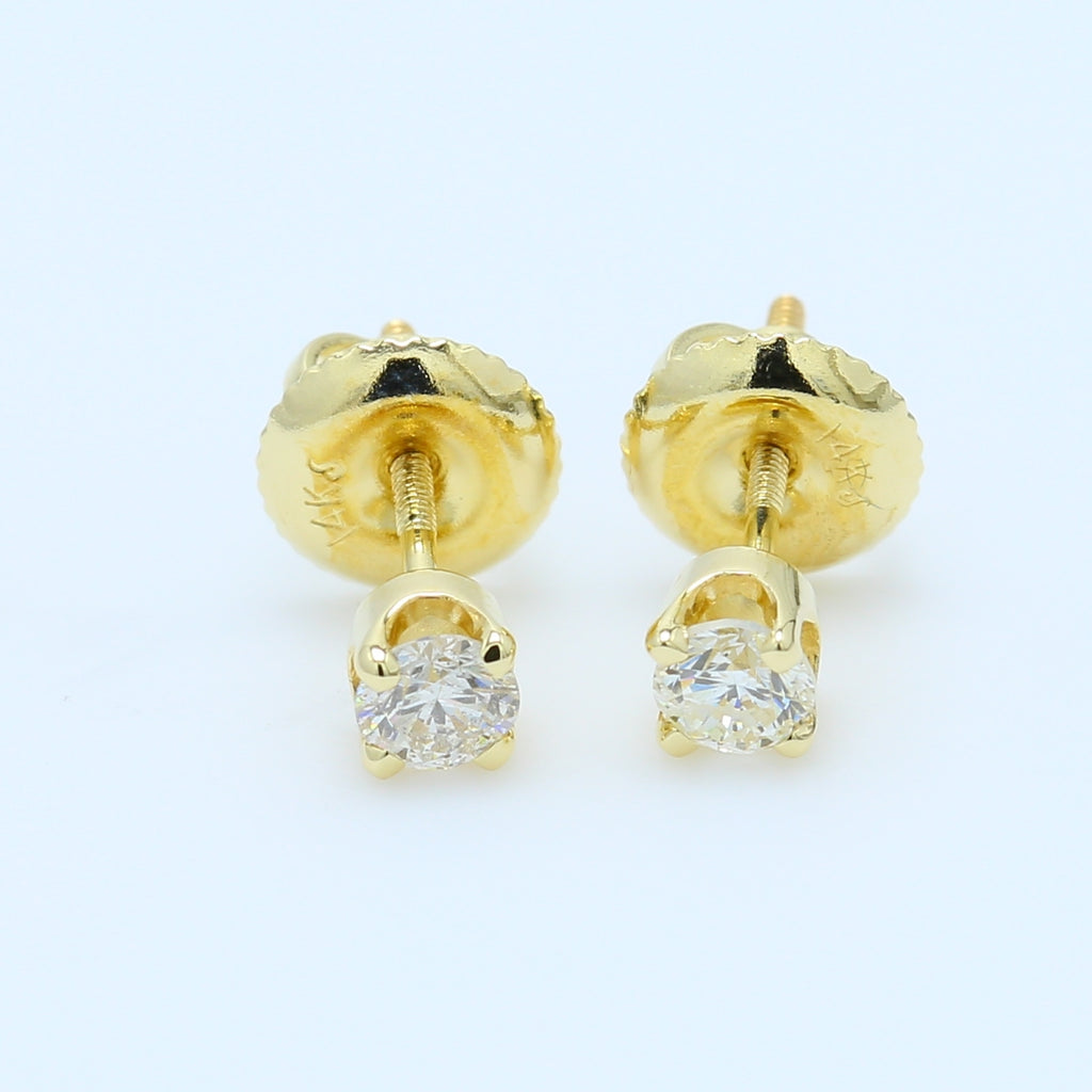1/3ct Brilliant Round Diamond Studs - 1477 Jewelers