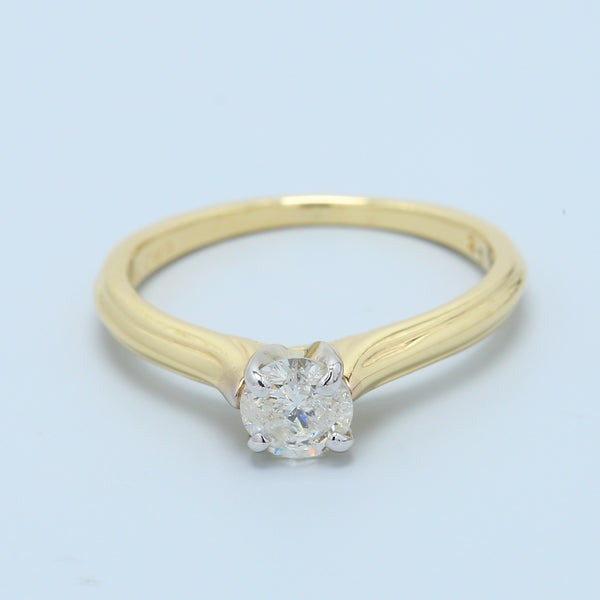 Diamond Solitaire Engagement Ring in 14k Yellow Gold - 1477 Jewelers