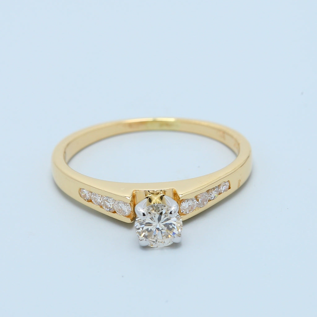 Dainty Diamond Engagement Ring - 1477 Jewelers