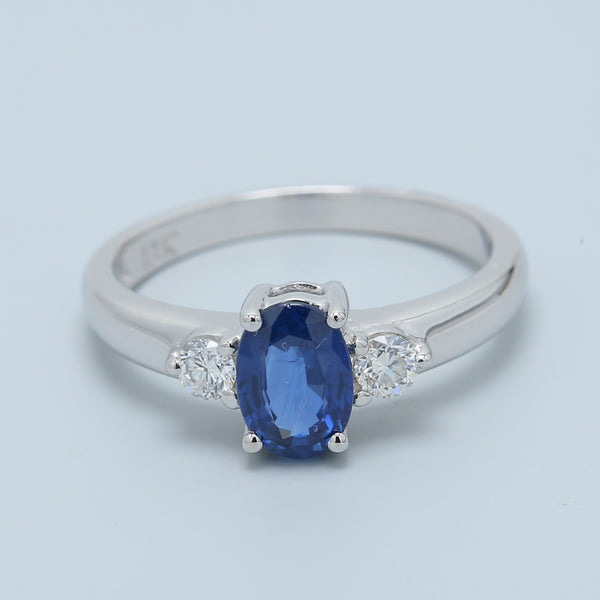 Sapphire and Diamond Engagement Ring - 1477 Jewelers
