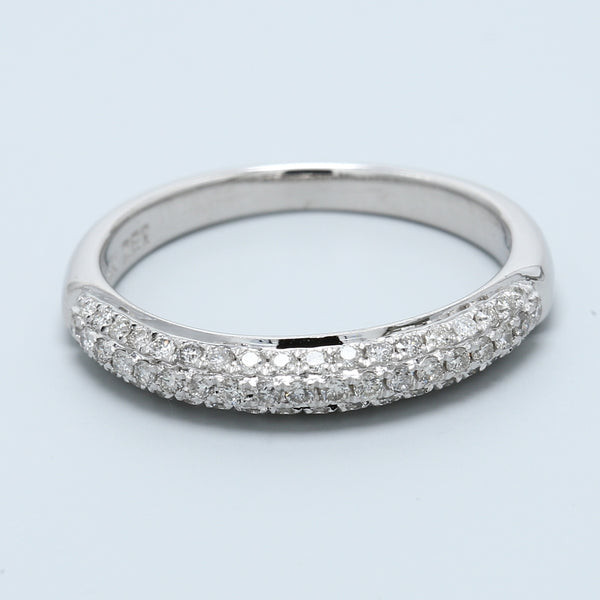 Trio Micro Pavé Diamond Wedding Band - 1477 Jewelers