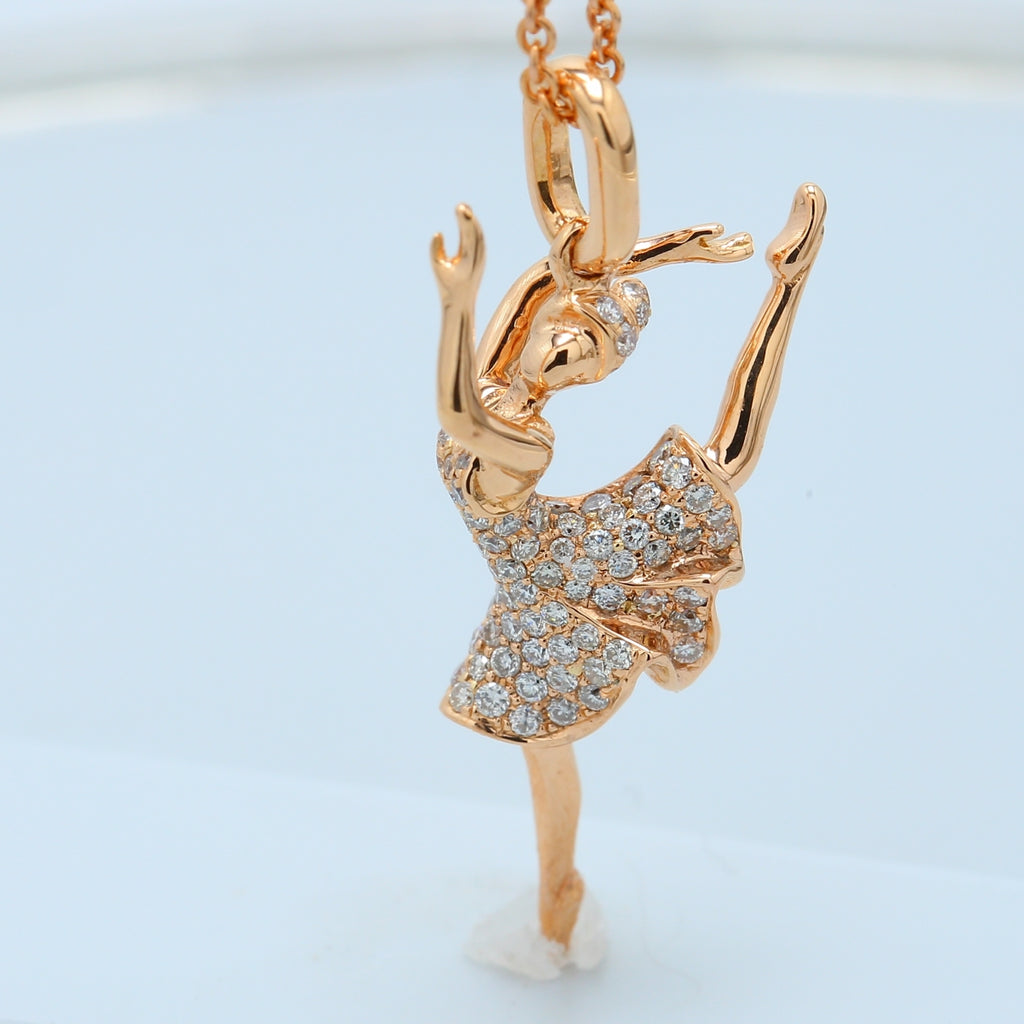 Rose Gold Ballerina Necklace - 1477 Jewelers