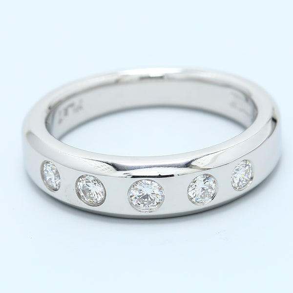 Scott Kay Platinum Five Diamond Band - 1477 Jewelers