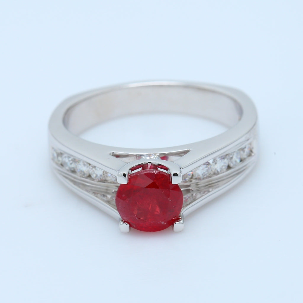 Ruby and Diamond Engagement Ring - 1477 Jewelers