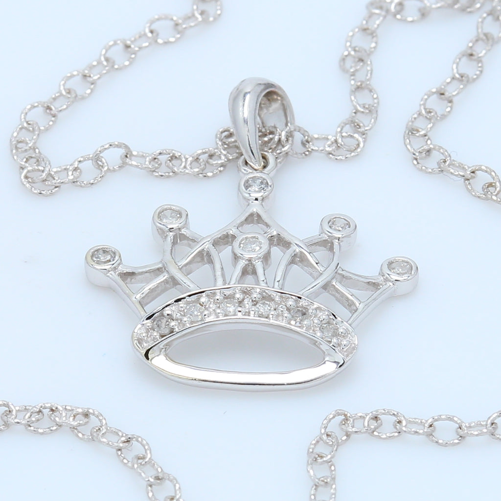 Princess Crown Diamond Necklace - 1477 Jewelers