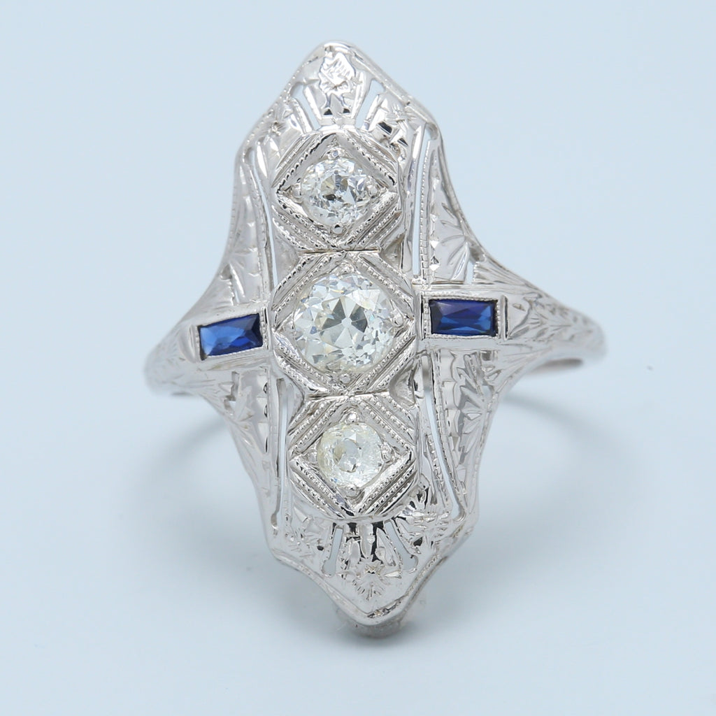 Antique Sapphire and Diamond Ring - 1477 Jewelers