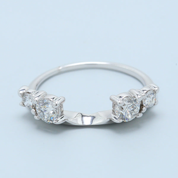 4 Diamond Side Stone Ring Guard - 1477 Jewelers
