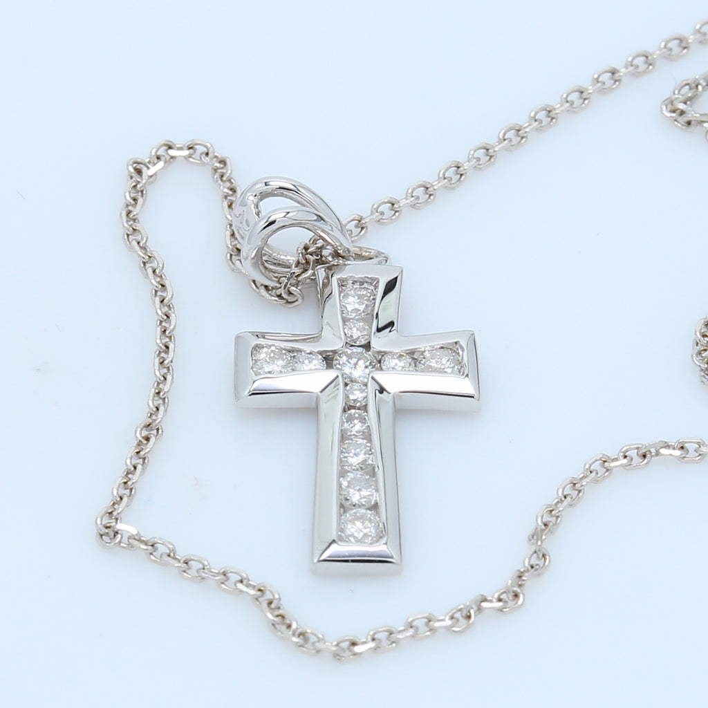 Precious Diamond Cross Pendant Necklace - 1477 Jewelers