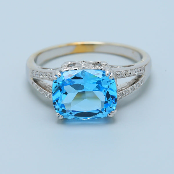Two Tone Topaz and Diamond Ring - 1477 Jewelers