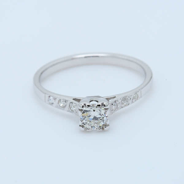 Vintage Solitaire Diamond Engagement Ring - 1477 Jewelers