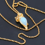 Diamond and Opal Owl Necklace - 1477 Jewelers