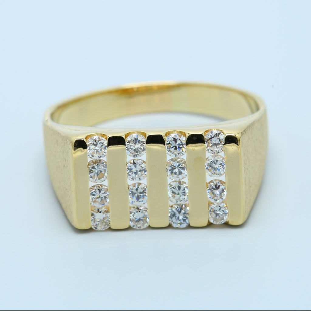 Men's Classy Diamond Ring in 14k Yellow Gold - 1477 Jewelers