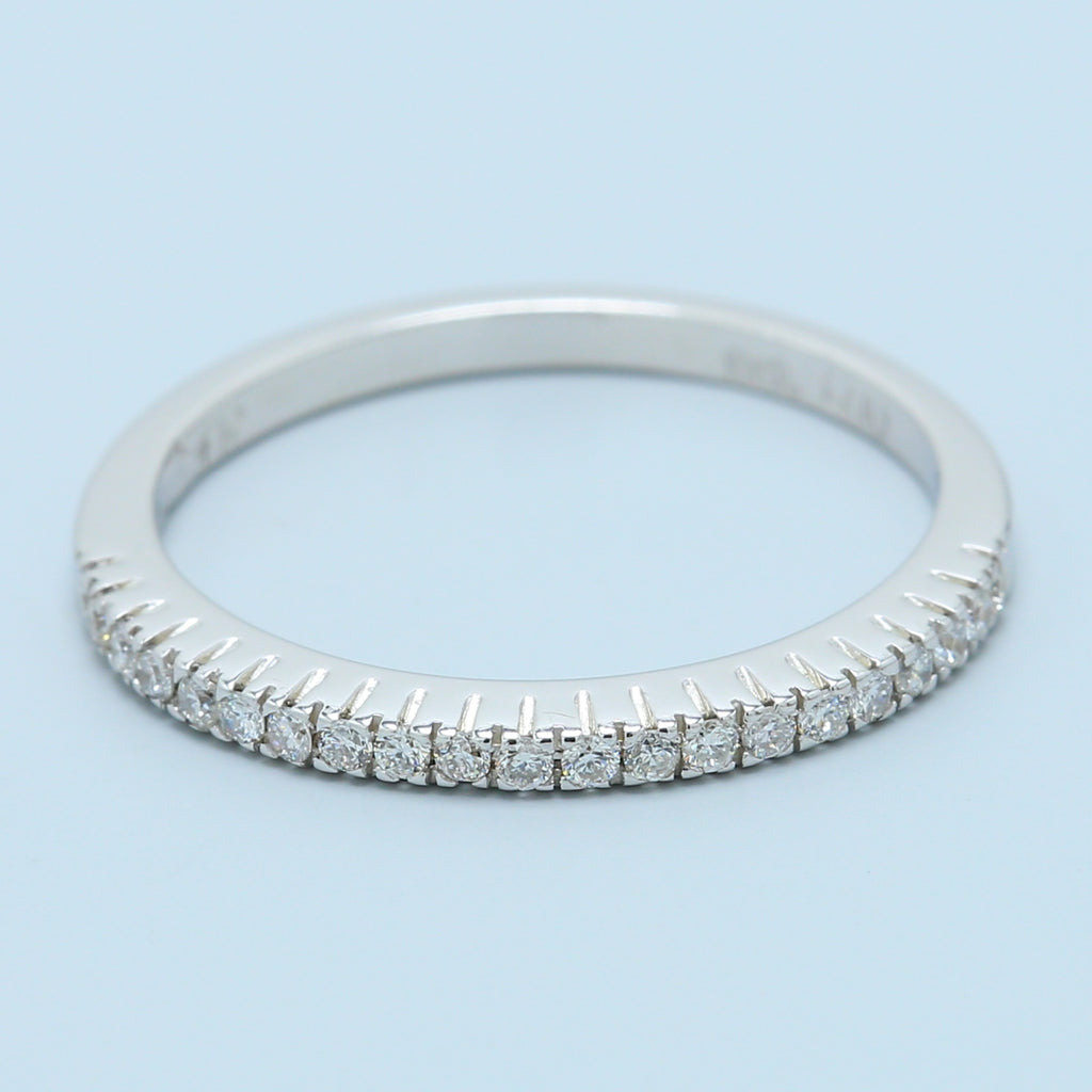 White Gold Diamond Band - 1477 Jewelers