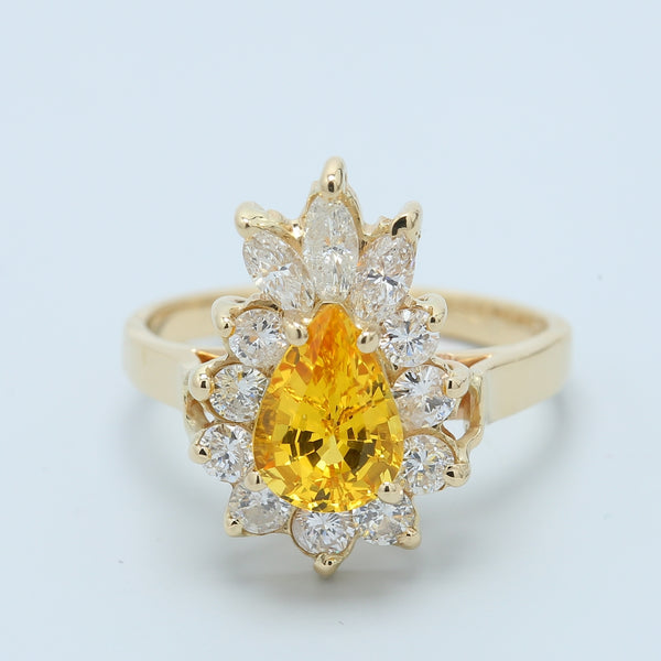 Imperial Yellow Topaz and Diamond Cocktail Ring - 1477 Jewelers
