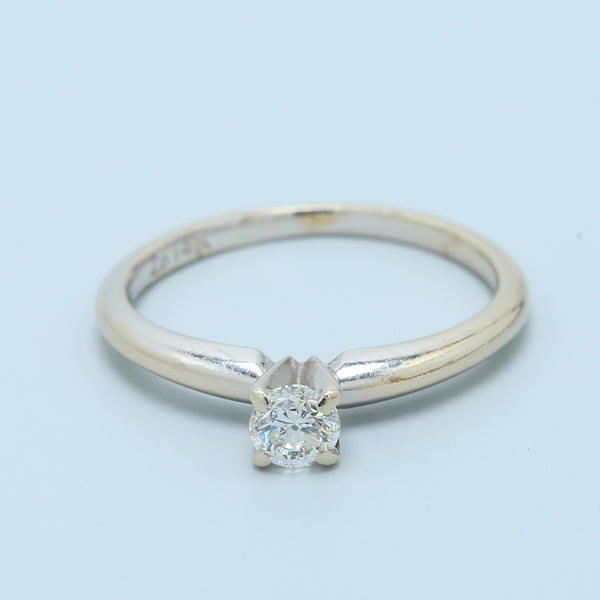 0.28ct Diamond Solitaire Ring in 14k White Gold - 1477 Jewelers