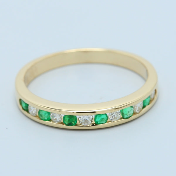 Diamond and Emerald Band - 1477 Jewelers