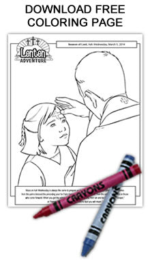 Free Ash Wednesday Coloring Page