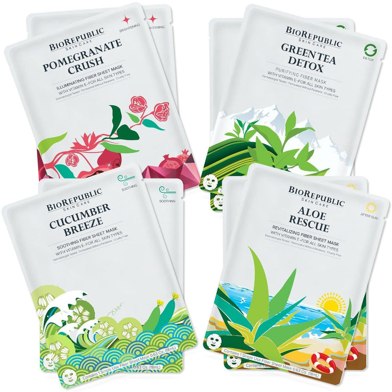 BioRepublic On The Glow Kit - 8 Sheet Mask Set Sheet Mask BioRepublic