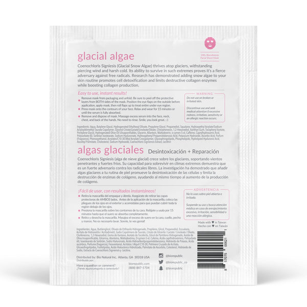 Glacial Glow Biocellulose Sheet Mask - BioRepublic SkinCare | The Best Sheet Masks