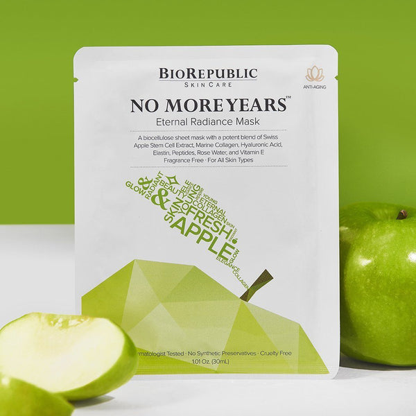 No More Years Eternal Radiance Biocellulose Sheet Mask - BioRepublic SkinCare | The Best Sheet Masks