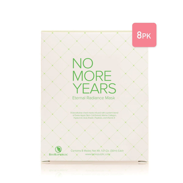 No More Years Eternal Radiance Mask - Conjunto de 8 hojas de máscara BioRepublic