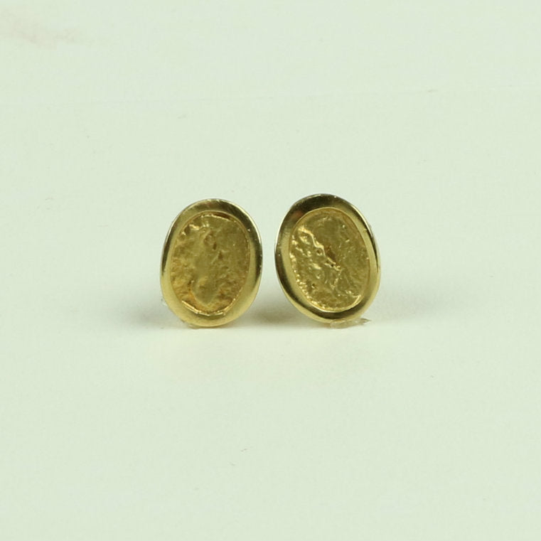 Natura small stud earring gold plated NES 1G – McMaster and Tingley