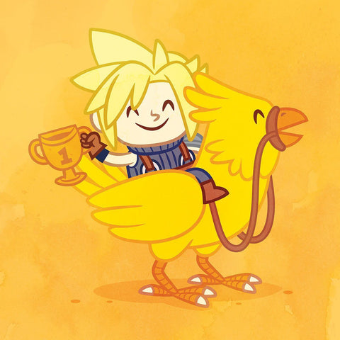 Play Mates: Cloud & Chocobo By Philip Tseng