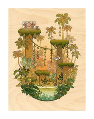 Jr in the Jungle by Nicole Gustafsson (Print)