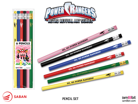 Power Rangers Pencil Set