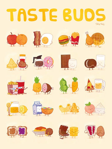 Taste Buds Poster by Philip Tseng