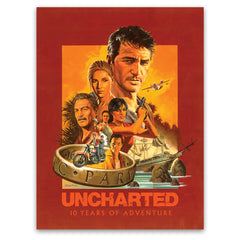Uncharted 10th Anniversary Limited Edition poster by Paul Mann
