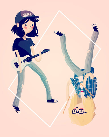 The Guitarist and The Drummer by Nan Lawson