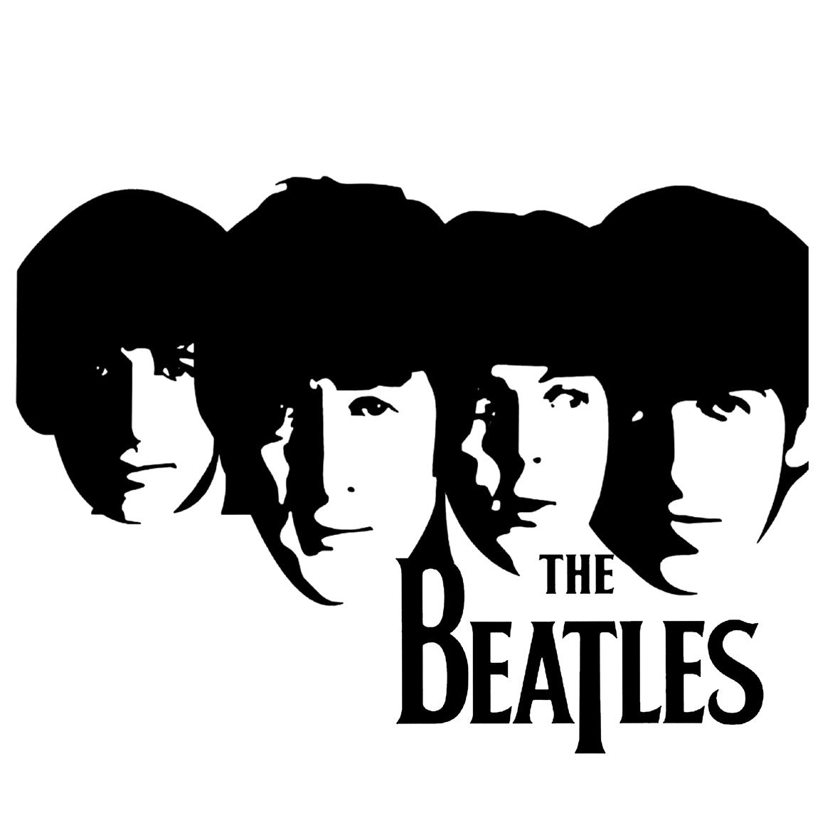 beatles faces 2 central t shirts