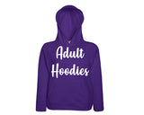 Design Your Own Custom Adult  Hoodie