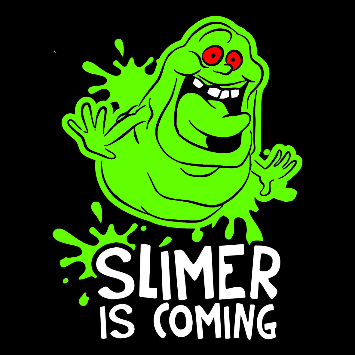Ghostbusters Slimer Is Coming Central T Shirts