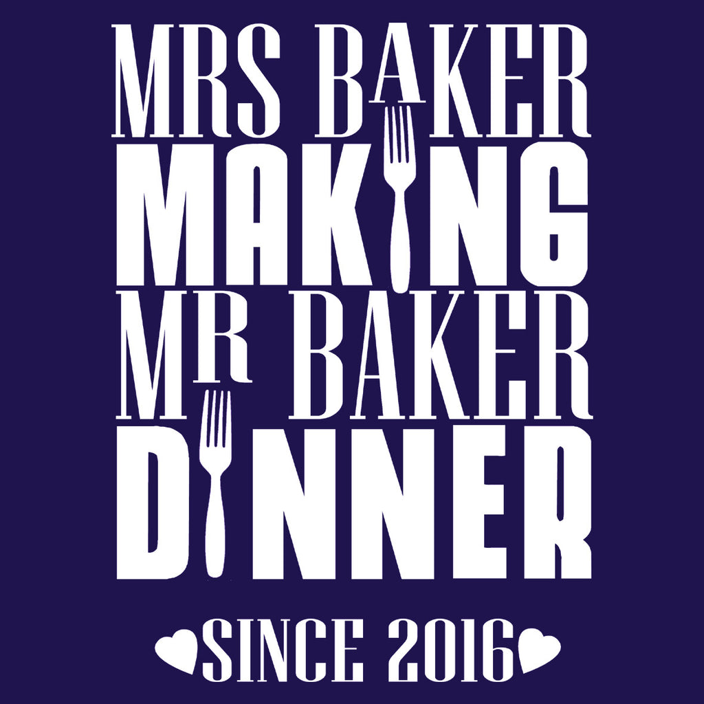 Mrs Baker Making Mr Baker Dinner